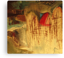 landscape with red stack Canvas Print
