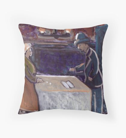 The rent collector Throw Pillow