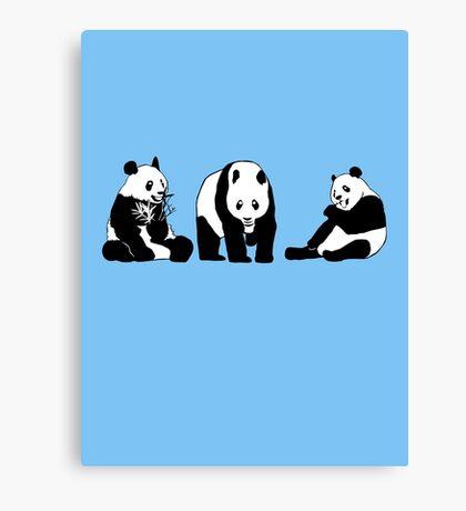 Funny panda party Canvas Print