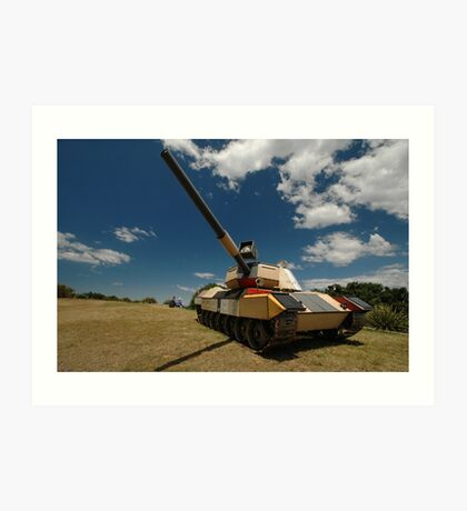 Military Tank @ Sculptures By The Sea 2010 Art Print