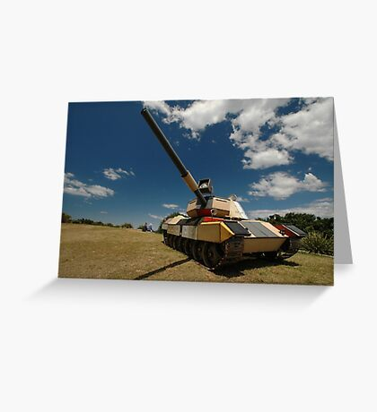 Military Tank @ Sculptures By The Sea 2010 Greeting Card