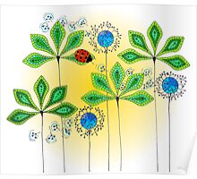 Leafy Green Lady Bug Poster