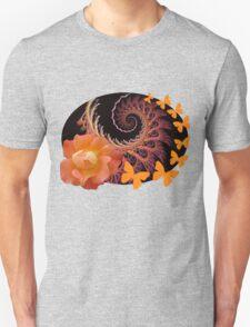 Roses, butterflies and a spiral T-Shirt