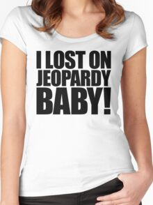 Weird Al - I lost on Jeopardy! (Black) Women's Fitted Scoop T-Shirt