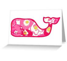 Lilly Pulitzer Whale Cherry Begonias Greeting Card