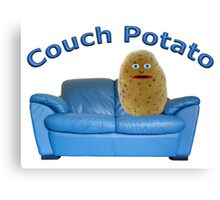 Couch Potato Character Canvas Print