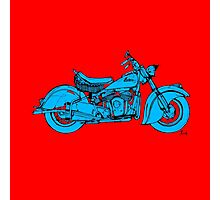 Indian Chief 1951 Classic Motorcycle Photographic Print