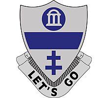325th Infantry Regiment - DUI - LET'S GO Photographic Print
