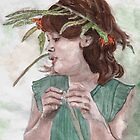Wreath Girl by Theresa Hartman
