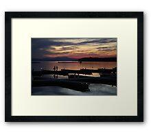 Champlain Dusk Framed Print