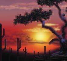 Sunset West by larryr33