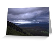dingle and the lakes of killarney from the Derrynasaggart mountains Greeting Card