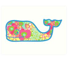 Lilly Pulitzer Whale Ice Cream Art Print