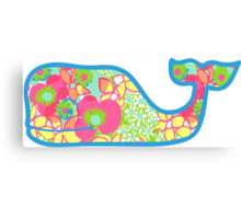Lilly Pulitzer Whale Ice Cream Canvas Print