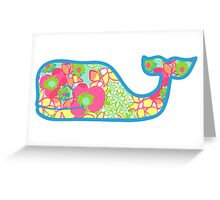 Lilly Pulitzer Whale Ice Cream Greeting Card