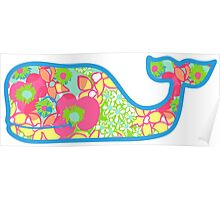 Lilly Pulitzer Whale Ice Cream Poster