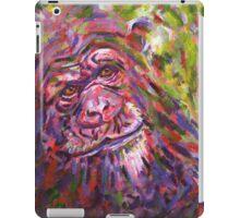 Acrylic painting, Chimpanzee endangered animal art iPad Case/Skin