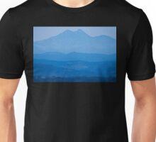 Rocky Mountains Twin Peaks Blue Haze Layers Unisex T-Shirt
