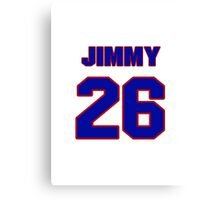 National football player Jimmy Stewart jersey 26 Canvas Print