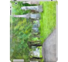 Cemetery lane - watercolour iPad Case/Skin