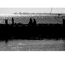 Silhoutte of Pier Photographic Print