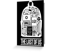 The Last of Us Inventory backpack Greeting Card