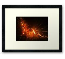 Sleepy fire Framed Print