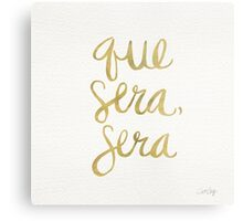 Whatever Will Be, Will Be (Gold Ink) Metal Print