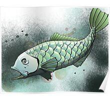 Silver Warehou Illustration Poster