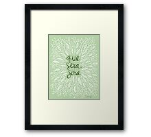 Whatever Will Be, Will Be (Mint Palette) Framed Print
