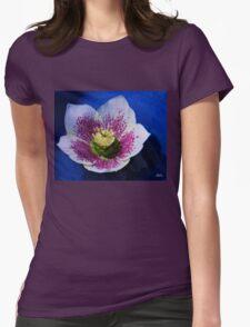 Hellebore Flower Head Womens Fitted T-Shirt