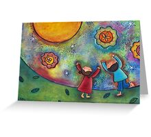 Children and the Moon  Greeting Card