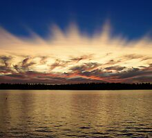 AMERICAN LAKE SPIKED SUNSET by MsLiz