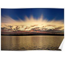 AMERICAN LAKE SPIKED SUNSET Poster
