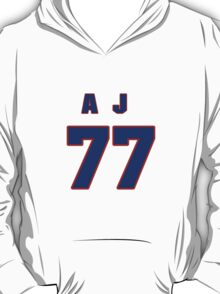 National football player A.J. Duhe jersey 77 T-Shirt