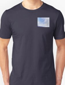 Serenity Prayer Blue Sky Gentle Clouds Unisex T-Shirt