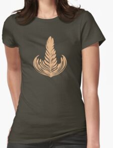 Creamy Rosetta Womens Fitted T-Shirt