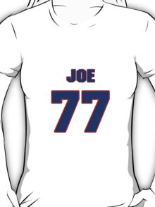 National football player Joe Wong jersey 77 T-Shirt