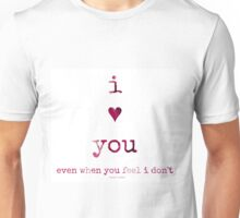 i heart you...two~ Unisex T-Shirt