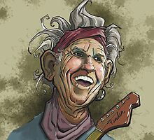 Keith Richards of the Rolling Stones by grosvenordesign