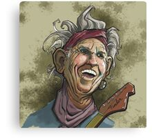 Keith Richards of the Rolling Stones Canvas Print