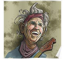 Keith Richards of the Rolling Stones Poster