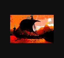 A Viking Longship at Sunset T-Shirt