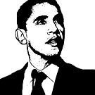 Barack Obama Black and White by ShopBarack