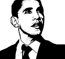 Barack Obama Black and White by ShopBarack
