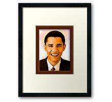 Barack Obama Color Framed Print