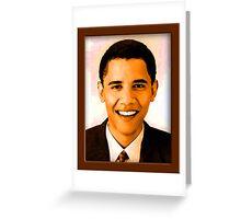 Barack Obama Color Greeting Card