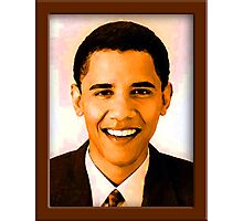 Barack Obama Color Photographic Print