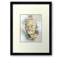 Bill Murray Portrait Framed Print