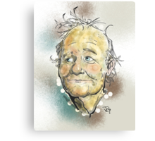 Bill Murray Portrait Canvas Print